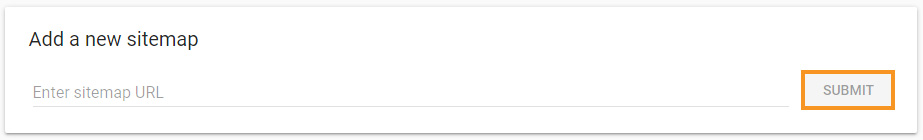 Add a new sitemap in Google Search Console