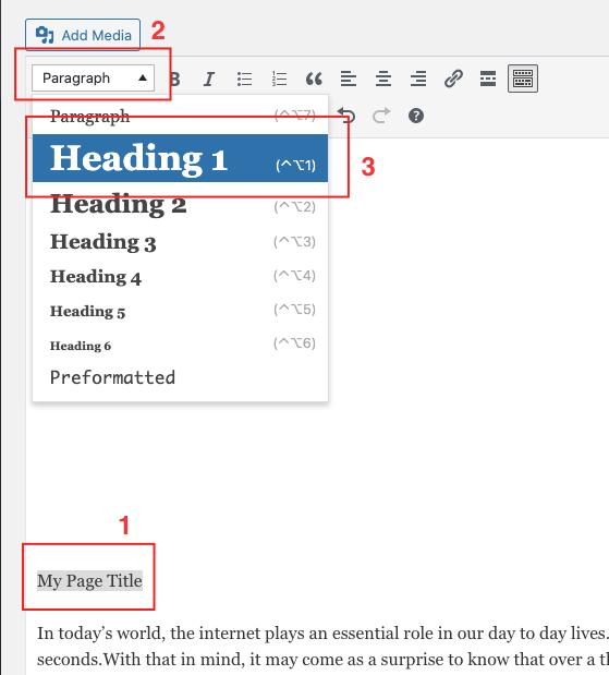 Editing H1 tags
